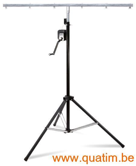 Beamz WLS30 Licht statief met T-bar 3 meter + Lier